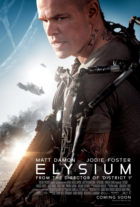 Elysium with Matt Damon